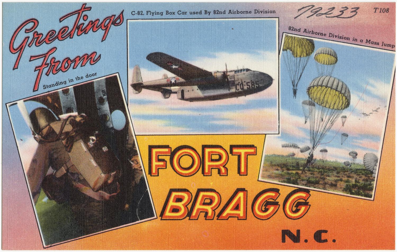 Fort Bragg post card