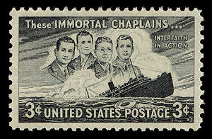 US Postal Stamp of Four Chaplains
