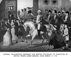 Washington before the Boston Evacuation