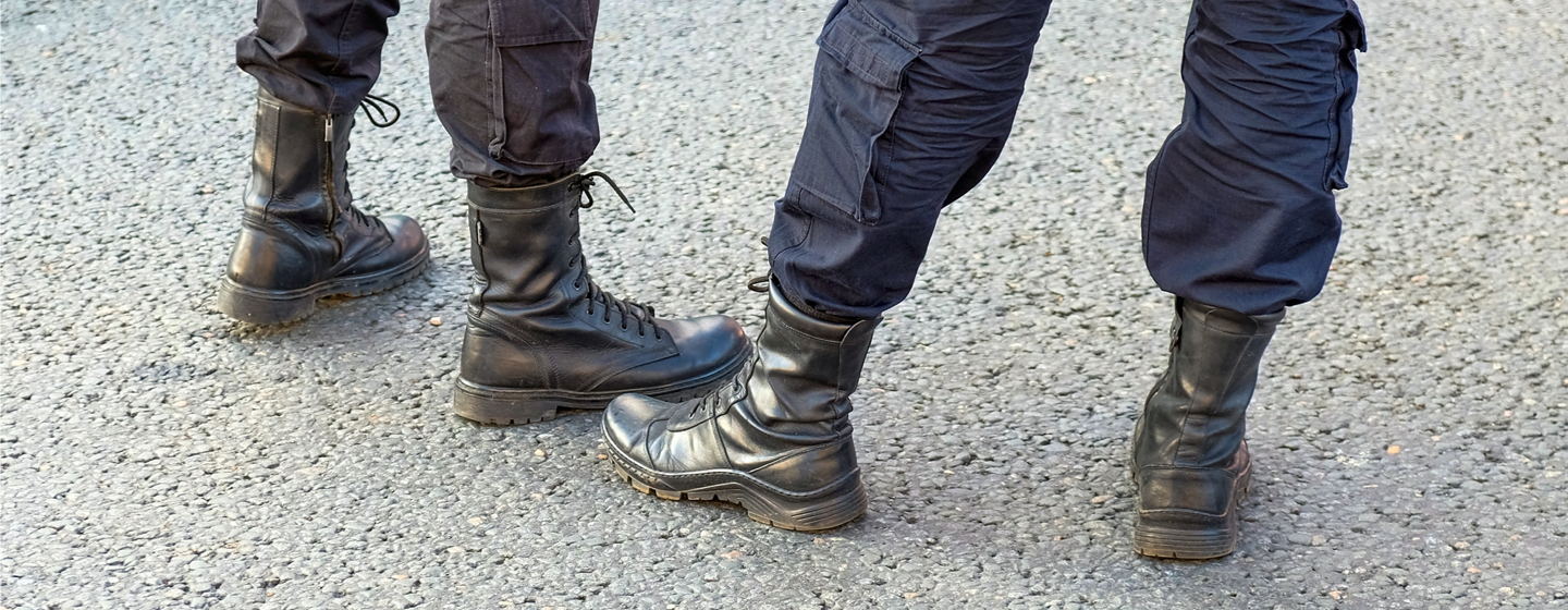 side zip police boots